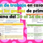 Plan de trabajo en casa para todos los grados de primaria semana del 20 al 24 de abril