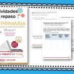 Actividades de repaso escolar para el quinto grado del ciclo escolar 2019-2020 español