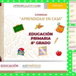 Fichas aprendizaje en casa para reforzar los aprendizajes esperados durante el aislamiento preventivo del sexto grado de primaria