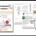 Actividades de repaso escolar para el sexto grado del ciclo escolar 2019-2020 español