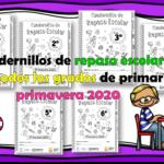 Cuadernillos de repaso escolar para todos los grados de primaria primavera 2020