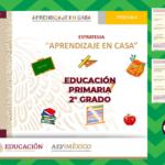 Aprendizaje en casa para reforzar los aprendizajes esperados durante el aislamiento preventivo del segundo grado de primaria