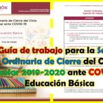 Guía de trabajo para la Sesión Ordinaria de Cierre del Ciclo Escolar 2019-2020 ante COVID-19 Educación Básica