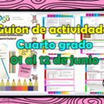 Guion de actividades para el cuarto grado de primaria del 01 al 12 de junio
