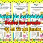 Guion de actividades para todos los grado de primaria del 01 al 12 de junio