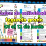 Guion de actividades para el segundo grado de primaria del 01 al 12 de junio