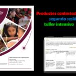 Productos contestados de la segunda sesión del taller intensivo de capacitación 2020 – 2021