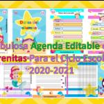 Fabulosa Agenda Editable de Sirenitas Para el Ciclo Escolar 2020-2021