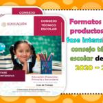 Formatos de los productos de la fase intensiva del consejo técnico escolar del ciclo 2020 – 2021