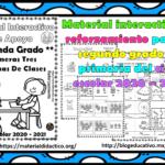 Material interactivo de reforzamiento para el segundo grado de primaria del ciclo escolar 2020 – 2021