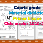 Material didáctico del cuarto grado del primer trimestre para el ciclo escolar 2020 – 2021