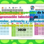 Aprendizajes esperados de la programación televisiva de inicial, preescolar, primaria y secundaria del 28 de septiembre al 02 de octubre del 2020