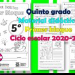 Material didáctico del quinto grado del primer trimestre para el ciclo escolar 2020 – 2021