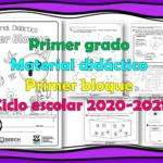 Material didáctico del primer grado del primer trimestre para el ciclo escolar 2020 – 2021