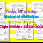 Material didáctico para todos los grados de primaria del primer trimestre para el ciclo escolar 2020 – 2021
