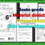 Material didáctico del sexto grado del primer trimestre para el ciclo escolar 2020 – 2021