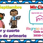 Aprende en casa II mis clases para tercer y cuarto grado de primaria del lunes 21 de septiembre del ciclo escolar 2020 – 2021