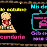 Aprende en casa II mis clases para secundaria del 19 de octubre del ciclo escolar 2020 – 2021