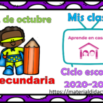 Aprende en casa II mis clases para secundaria del 22 de octubre del ciclo escolar 2020 – 2021