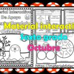 Material interactivo del sexto grado del mes de octubre del ciclo escolar 2020 – 2021