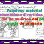 Fabuloso material matemáticas divertidas para el día de muertos del primer grado de primaria