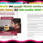 Productos contestados de la primera sesión ordinaria del consejo técnico escolar de educación básica del ciclo escolar 2020 – 2021
