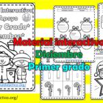 Material interactivo del primer grado del mes de diciembre del ciclo escolar 2020 – 2021