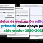 Boletas de evaluación editables de  primaria como apoyo para el ciclo escolar 2020-2021