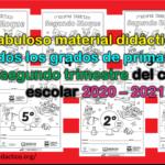 Fabuloso material didáctico de todos los grados de primaria del segundo trimestre del ciclo escolar 2020 – 2021