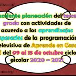 Excelente planeación del tercer grado con actividades de acuerdo a los aprendizajes esperados de la programación televisiva de Aprende en Casa II del 09 al 13 de noviembre ciclo escolar 2020 – 2021