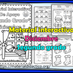 Material interactivo del segundo grado del mes de diciembre del ciclo escolar 2020 – 2021