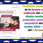 Productos contestados de la tercera sesión ordinaria del consejo técnico escolar de preescolar, primaria y secundaria del ciclo escolar 2020 – 2021 del 7 de enero