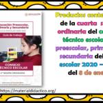 Productos contestados de la cuarta sesión ordinaria del consejo técnico escolar de preescolar, primaria y secundaria del ciclo escolar 2020 – 2021 del 8 de enero