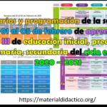 Horarios y programación de la semana del 01 al 05 de febrero de aprende en casa III de educación inicial, preescolar, primaria, secundaria del ciclo escolar 2020 – 2021