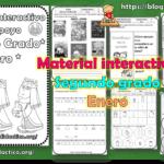Material interactivo del segundo grado del mes de Enero del ciclo escolar 2020 – 2021