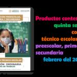 Productos contestados de la quinta sesión ordinaria del consejo técnico escolar de preescolar, primaria y secundaria del mes de febrero del 2021