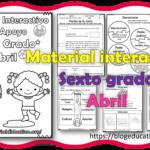 Material interactivo del sexto grado del mes de abril del ciclo escolar 2020 – 2021