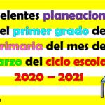 Excelentes planeaciones del primer grado de primaria del mes de marzo del ciclo escolar 2020 – 2021