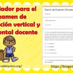 Simulador para el examen de promoción vertical y horizontal docente