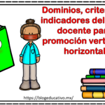 Dominios, criterios e indicadores del perfil docente para promoción vertical y horizontal