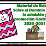 Material de Estudio Sobre el Dominio I para la admisión y promoción Horizontal 2020 -2021