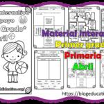 Material interactivo del primer grado del mes de abril del ciclo escolar 2020 – 2021