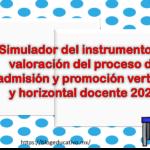 Simulador del instrumento de valoración del proceso de admisión y promoción vertical y horizontal docente 2021