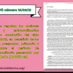 ACUERDO número 16/06/21 por el que se regulan las acciones específicas y extraordinarias relativas a la conclusión del ciclo escolar 2020-2021