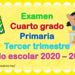 Fabuloso examen del cuarto grado de primaria del tercer trimestre del ciclo escolar 2020 – 2021