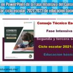 Presentación en PowerPoint de la Fase Intensiva del Consejo Técnico Escolar ciclo escolar 2021-2022 de educación básica