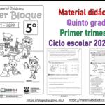 Fabuloso Material Didáctico para el quinto grado de primaria del primer trimestre del ciclo escolar 2021 – 2022