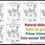 Fabuloso Material Didáctico para todos los grados de primaria del primer trimestre del ciclo escolar 2021 – 2022
