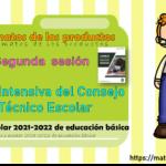 Formatos de los productos de la segunda sesión de la Fase Intensiva del Consejo Técnico Escolar ciclo escolar 2021-2022 de educación básica