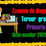 Examen de diagnóstico para tercer grado de primaria del ciclo escolar 2021 – 2022